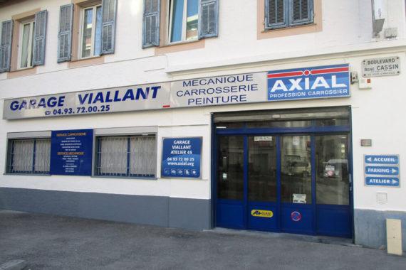 facade garage viallant - garagiste à nice ouest